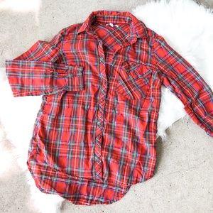 Delia's Red Plaid Flannel!